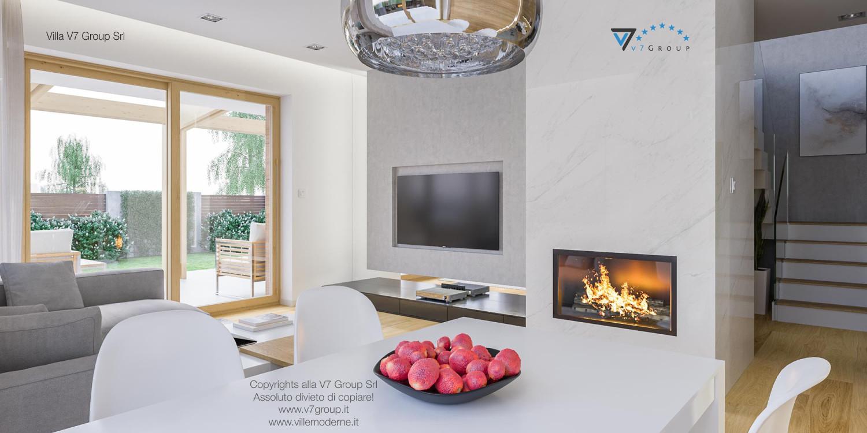 Immagine Villa V23 - interno 3 - sala da pranzo e soggiorno