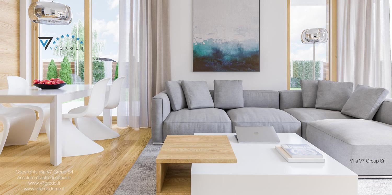 Immagine Villa V23 - interno 9 - soggiorno e sala da pranzo