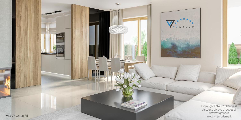 Immagine Villa V24 - interno 2 - soggiorno e sala da pranzo