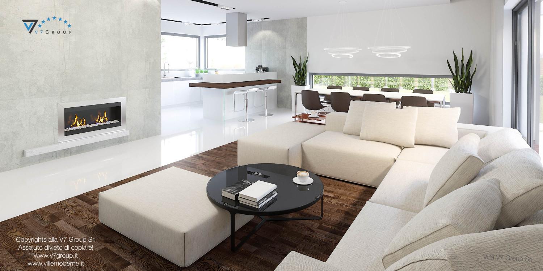 Immagine Villa V26 - soggiorno moderno - versione 1