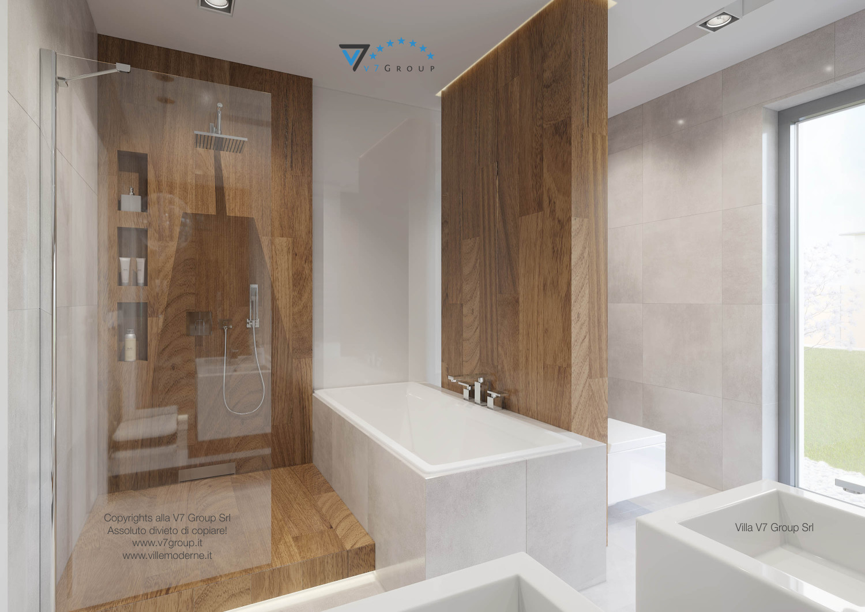 Immagine Villa V26 - la vasca e la doccia nel bagno - versione 1