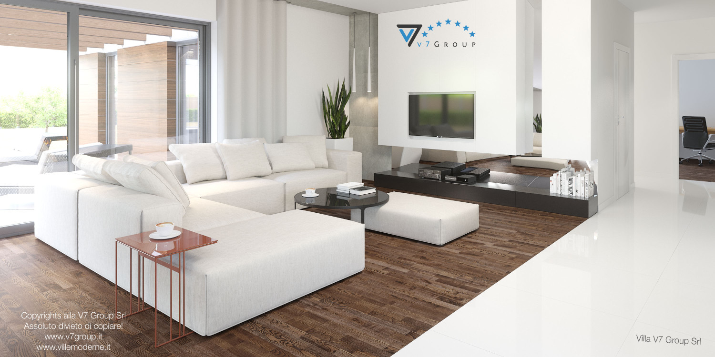 Immagine Villa V26 - soggiorno bianco - versione 1