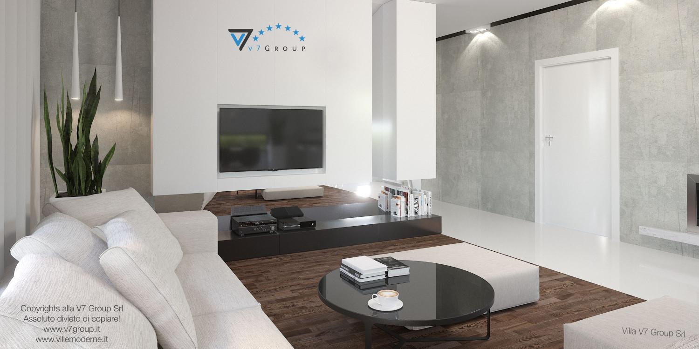 Immagine Villa V26 - versione 1 - interno 3 - soggiorno e corridoio