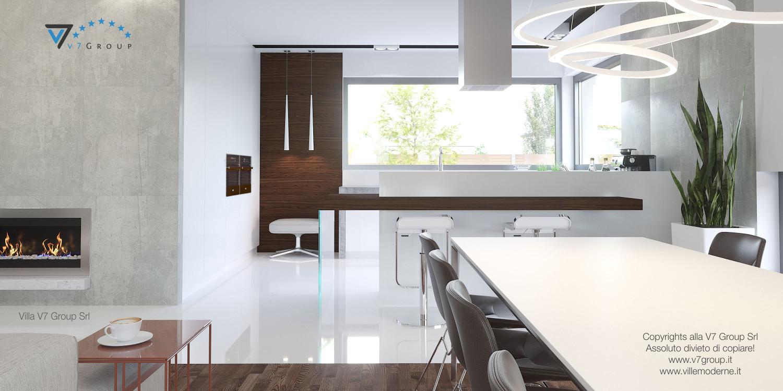 Immagine Villa V26 - versione 1 - interno 5 - sala da pranzo e cucina