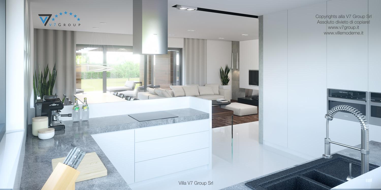 Immagine Villa V26 - la cucina grande e il soggiorno - versione 1