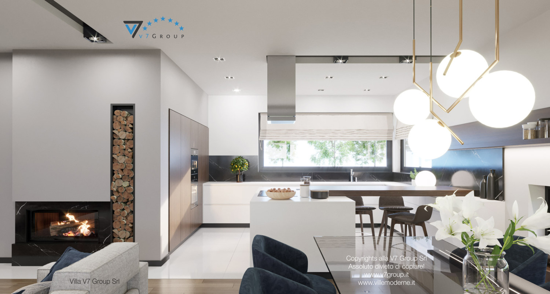 Immagine Villa V26 - versione 2 - interno 3 - sala da pranzo e cucina
