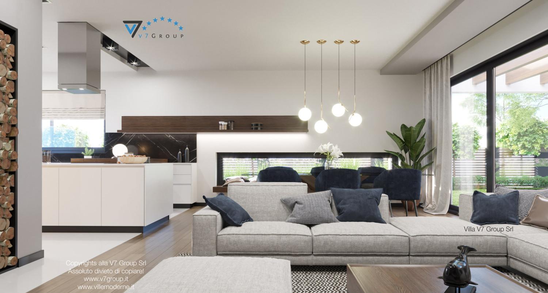 Immagine Villa V26 - versione 2 - interno 4 - sala da pranzo e cucina