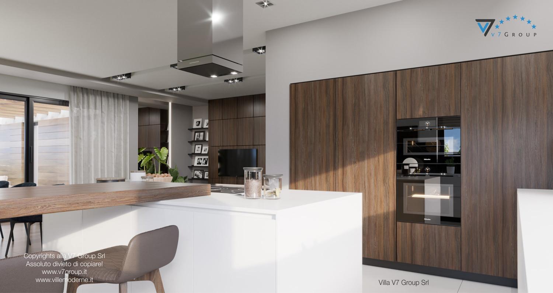 Immagine Villa V26 - la grande cucina e il soggiorno - versione 2