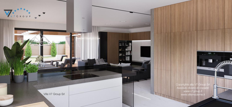 Immagine Villa V26 - la cucina e il soggiorno - terza versione