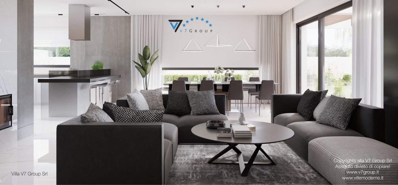 Immagine Villa V26 - il divano nel soggiorno - terza versione