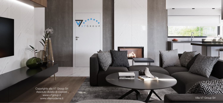 Immagine Villa V26 - versione 3 - interno 3 - soggiorno e corridoio