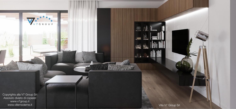 Immagine Villa V26 - la sistemazione del soggiorno - terza versione