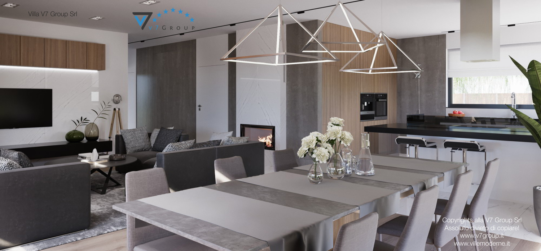 Immagine Villa V26 - versione 3 - interno 6 - sala da pranzo e cucina