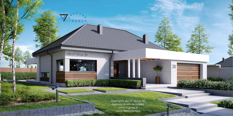Immagine Villa V26 - vista laterale frontale grande