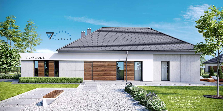 Immagine Villa V26 - vista laterale giardino grande