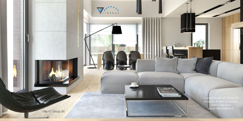 Immagine Villa V27 - il soggiorno con un camino