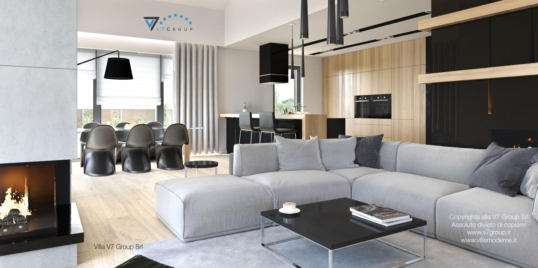 Immagine Villa V27 - il divano al centro del soggiorno