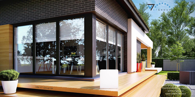 Immagine Villa V27 - la porta balcone del soggiorno