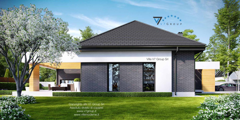 Immagine Villa V27 - vista laterale giardino grande