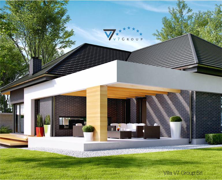 Immagine Villa V27 - il dettaglio del terrazzo esterno