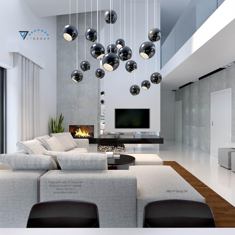 Immagine Villa V28 - la tv e le lampade del soggiorno