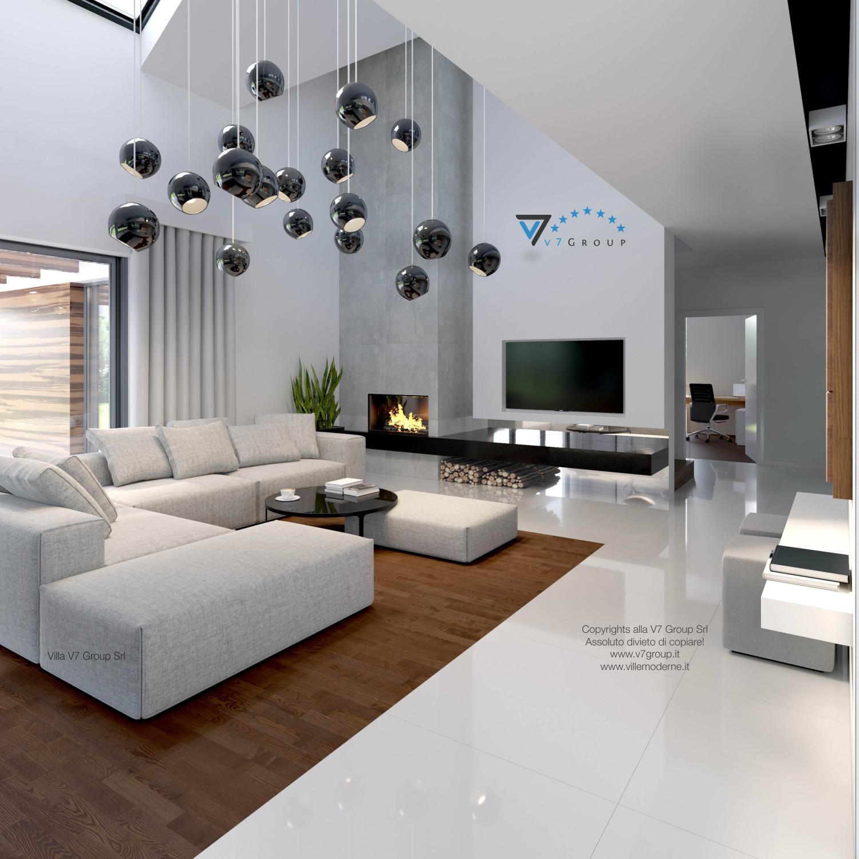 Immagine Villa V28 - il divano, la tv e il camino