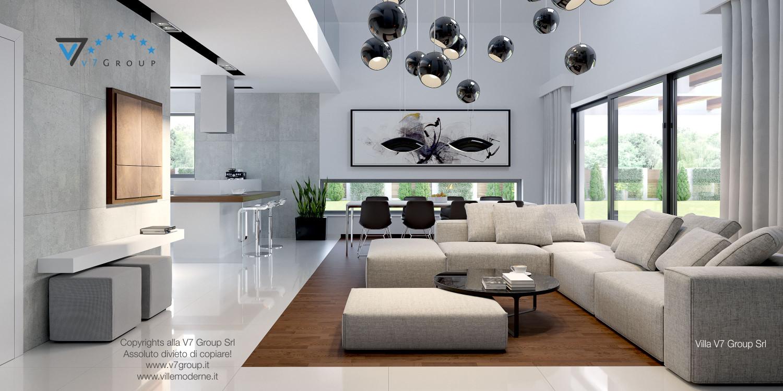 Immagine Villa V28 - il divano al centro del soggiorno