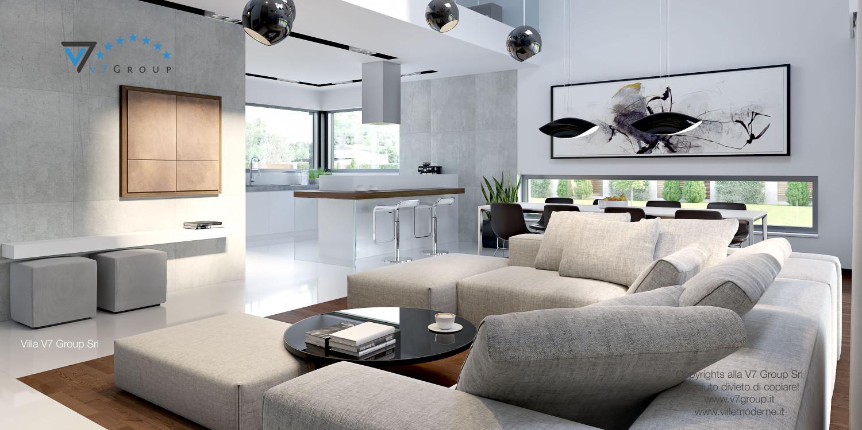 Immagine Villa V28 - la vista del soggiorno e della cucina