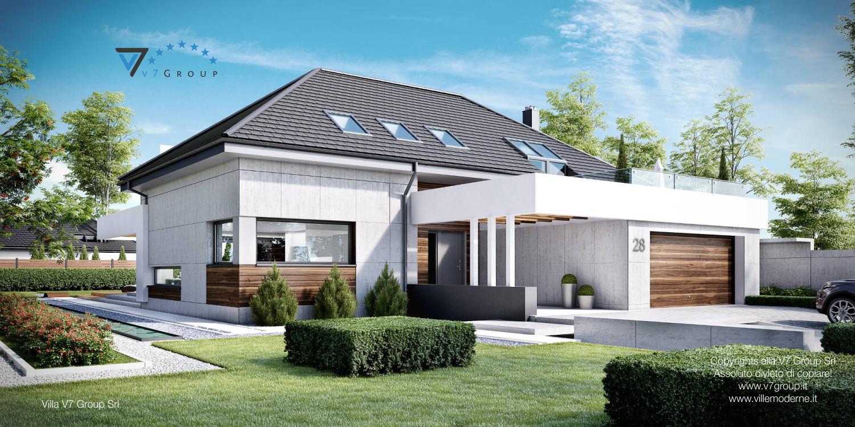 Immagine Villa V28 - la vista frontale e laterale della casa
