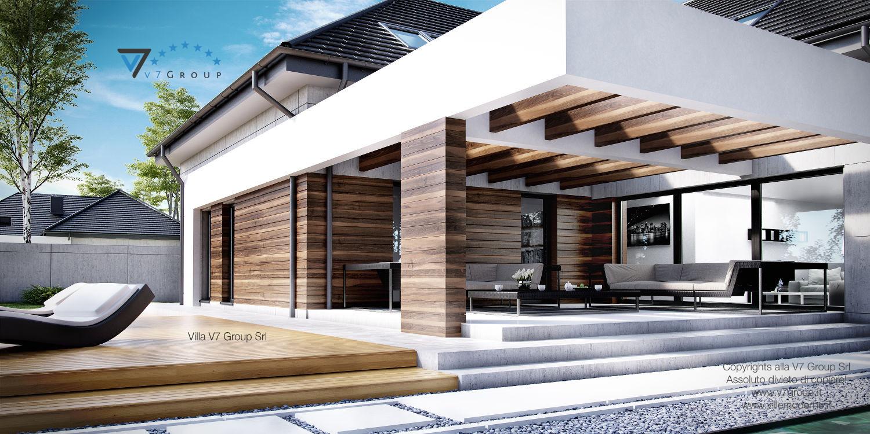 Immagine Villa V28 - il dettaglio architettonico del terrazzo esterno