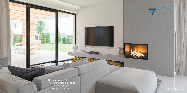 Immagine Villa V29 - la tv e la porta balcone del soggiorno