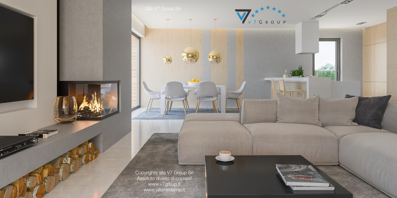 Immagine Villa V29 - la vista del soggiorno e della sala da pranzo