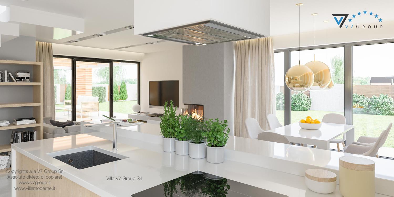 Immagine Villa V29 - la vista del corridoio, del soggiorno e della cucina