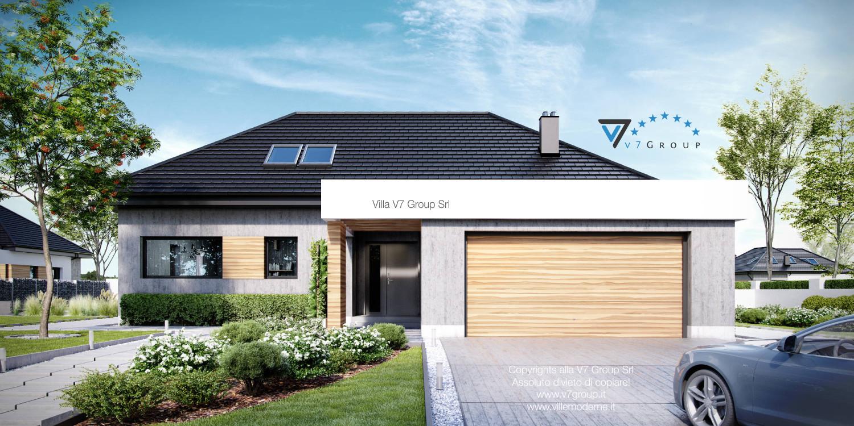 Immagine Villa V29 - vista frontale garage grande
