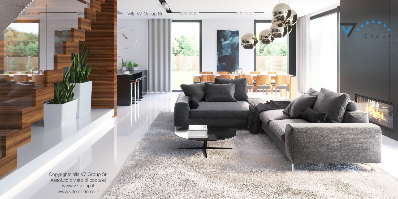 Immagine Villa V30 (progetto originale) - interno 2 - soggiorno e corridoio