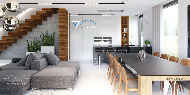 Immagine Villa V30 (progetto originale) - interno 6 - sala da pranzo e cucina