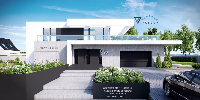 Immagine Villa V30 (progetto originale) - vista frontale garage grande