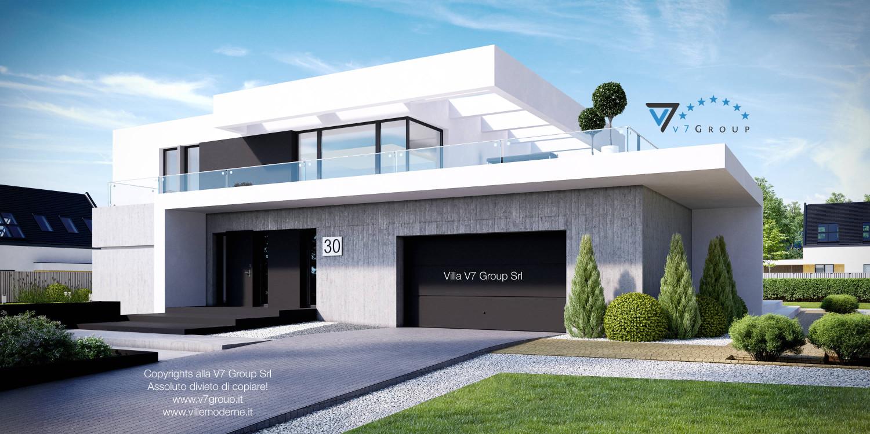 Immagine Villa V30 (progetto originale) - vista frontale laterale grande