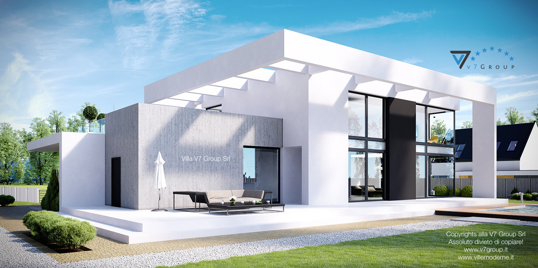 Immagine Villa V30 (progetto originale) - vista terrazzo esterno grande