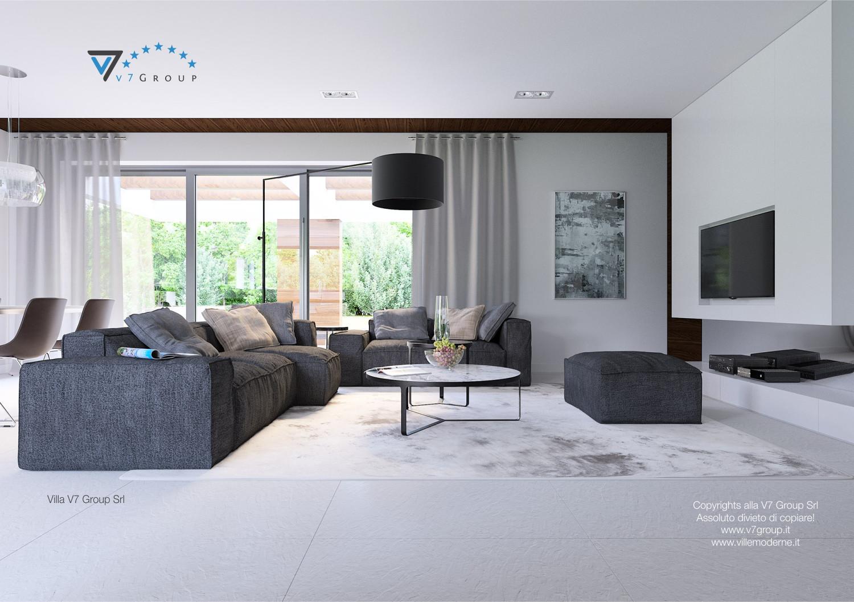 Immagine Villa V31 (progetto originale) - il grande soggiorno