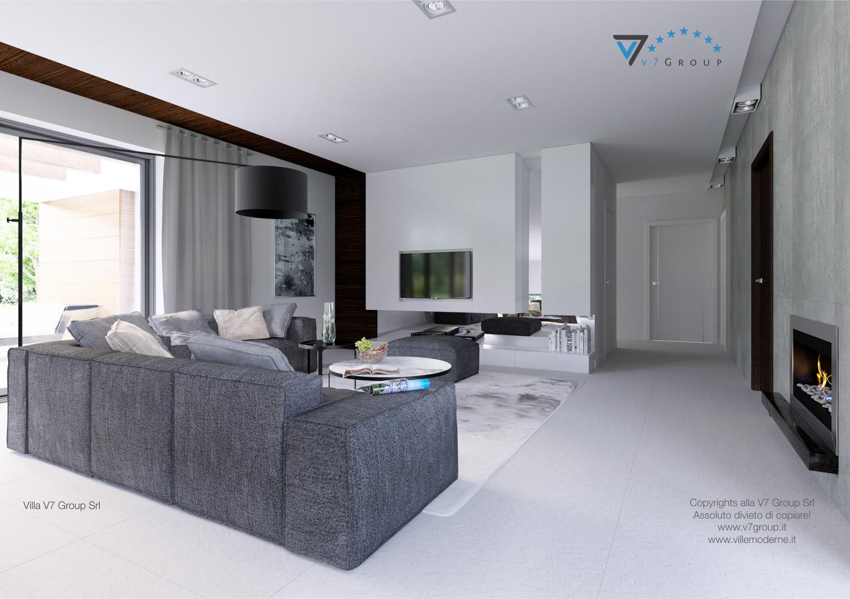 Immagine Villa V31 (progetto originale) - il divano nel soggiorno