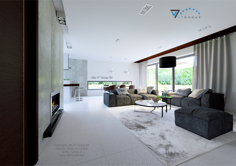 Immagine Villa V31 (progetto originale) - interno 4 - soggiorno e corridoio