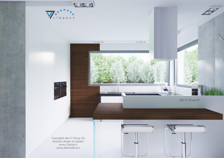 Immagine Villa V31 (progetto originale) - la cucina di colore bianco