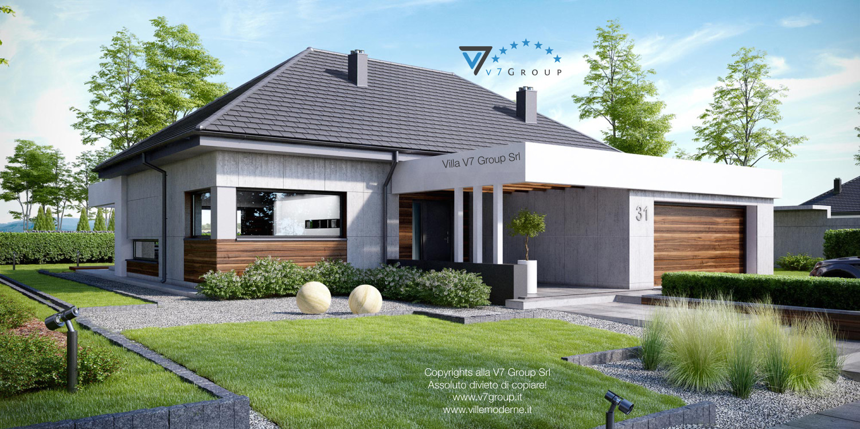 Immagine Villa V31 (progetto originale) - la casa e il giardino di lato