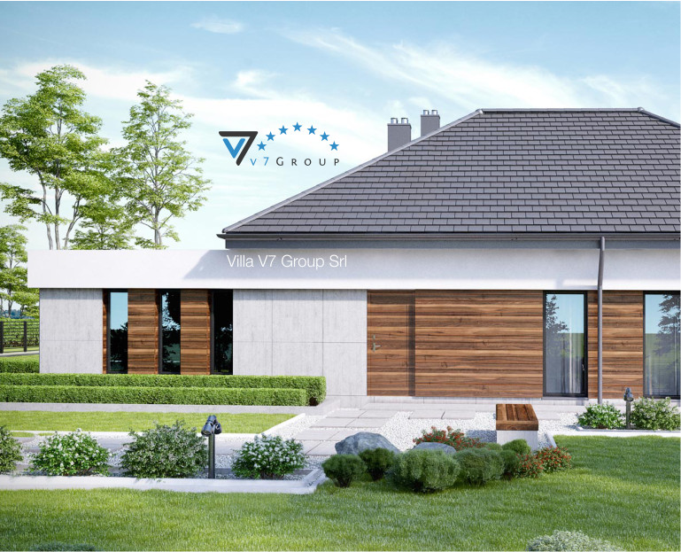 Immagine Villa V31 (progetto originale) - il rivestimento laterale della villa