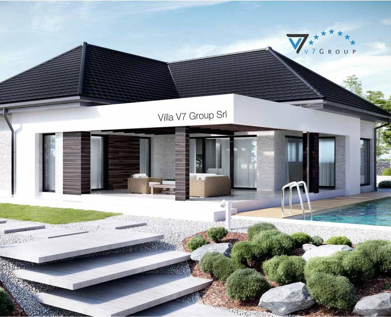 Immagine Villa V32 (progetto originale) - il terrazzo e le scale esterne