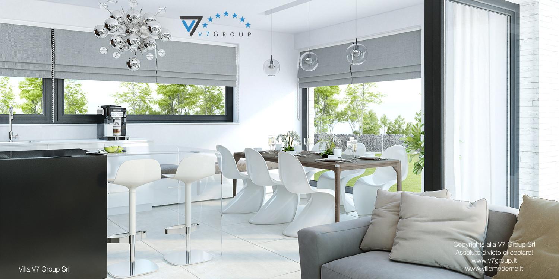 Immagine Villa V32 (progetto originale) - la sala da pranzo tradizionale