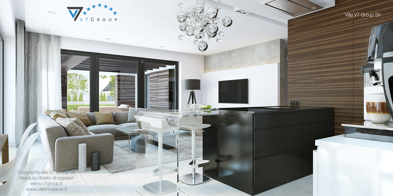 Immagine Villa V32 (progetto originale) - il grande soggiorno