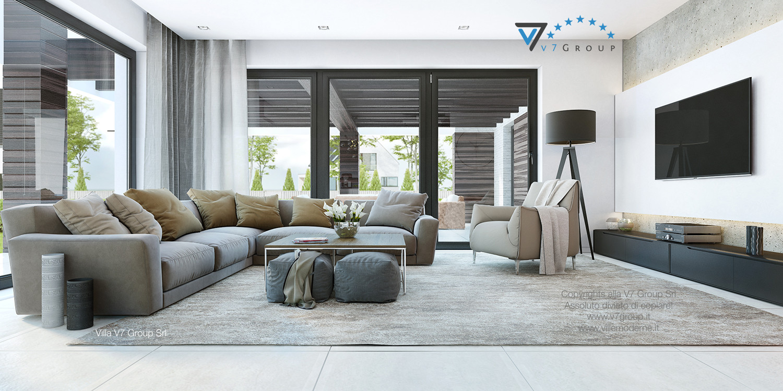 Immagine Villa V32 (progetto originale) - il design del soggiorno