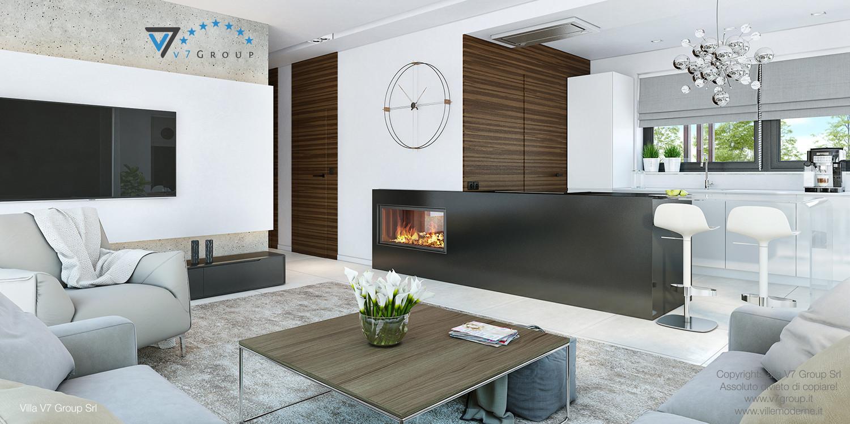 Immagine Villa V32 (progetto originale) - gli interni del soggiorno